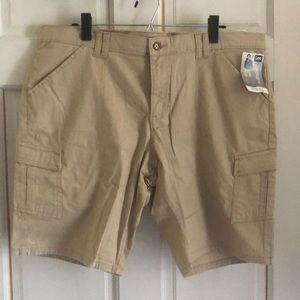 Women's 16 Lee Midrise Bermuda Tan Cargo Shorts